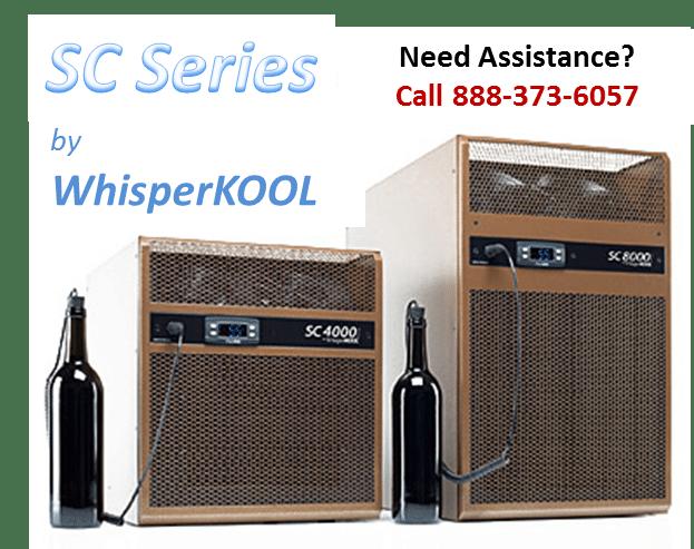 WhisperKOOL SC Series Wine Cellar Cooling Units