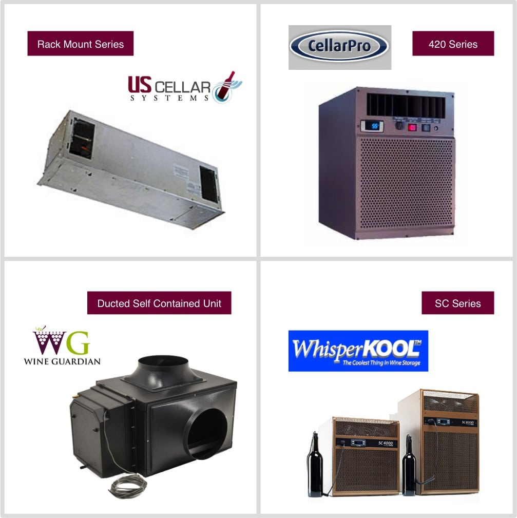 Wine cellar refrigeration system brands regularly recommended by M&M Cellar Systems