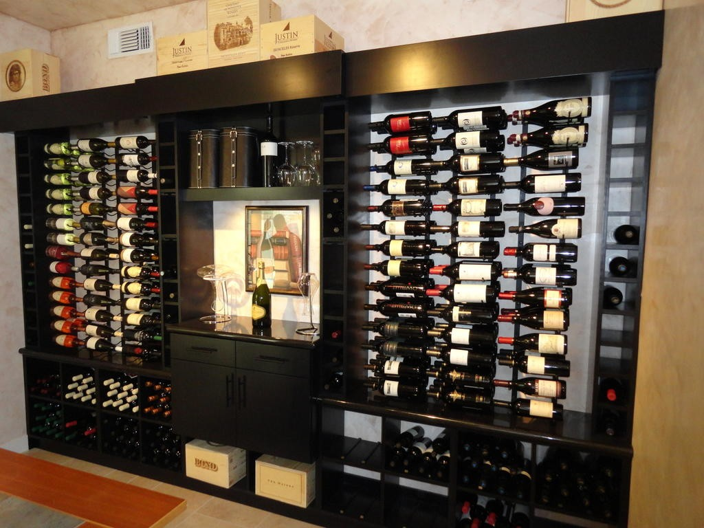 Read about a residential wine cellar