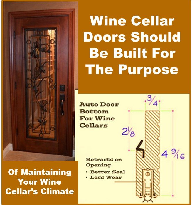 The wine cellars door should be part of the climate control system