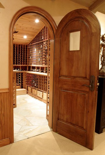 Wine Cellar Door and Lighting
