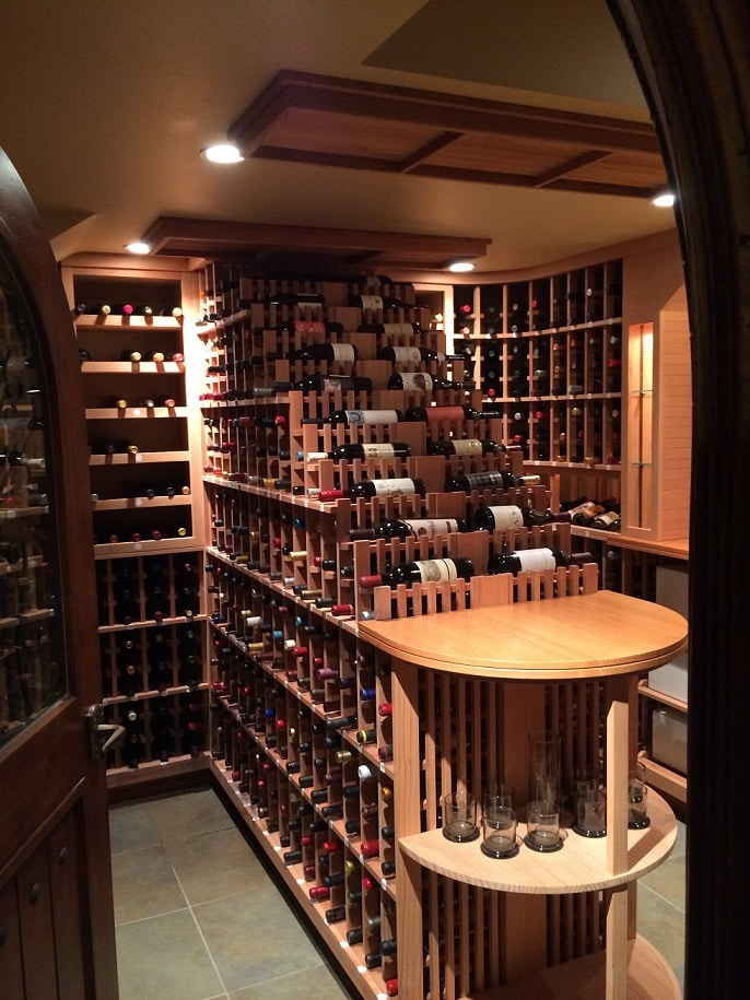 Residential Wine Room Bel Air Los Angeles