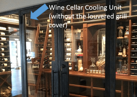Wine Cellar Cooling Unit Installation