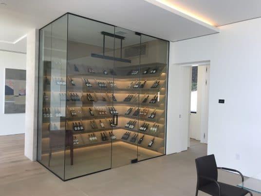 Main Floor Glass Wine Cellar