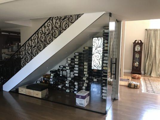 Under Stair Wine Storage Orange County
