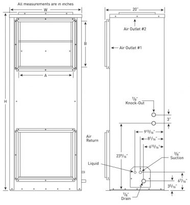 mounting-diagrams-vertical-high-static-series-custom-wine-cellar-cooling-single-evaporator